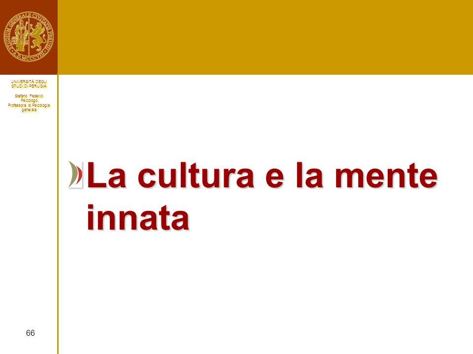 La cultura e la mente innata