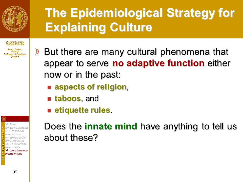 The Epidemiological Strategy for Explaining Culture
