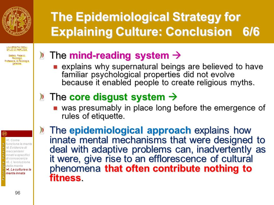 The Epidemiological Strategy for Explaining Culture: Conclusion 6/6