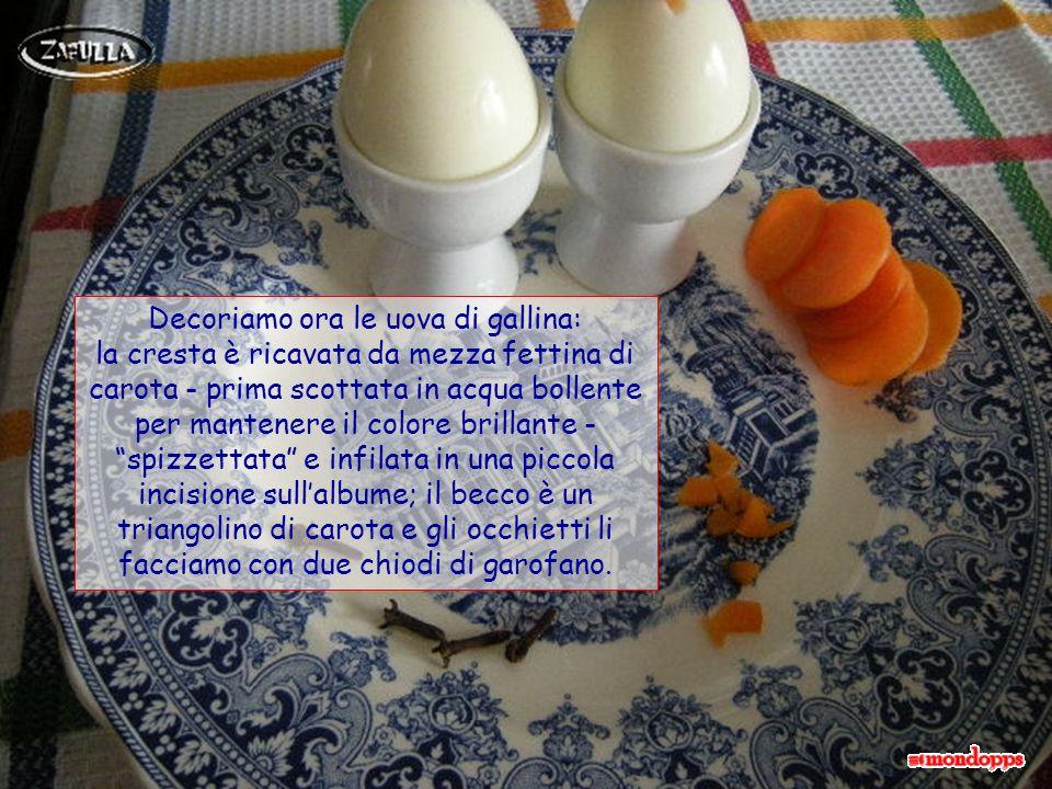 Decoriamo ora le uova di gallina: