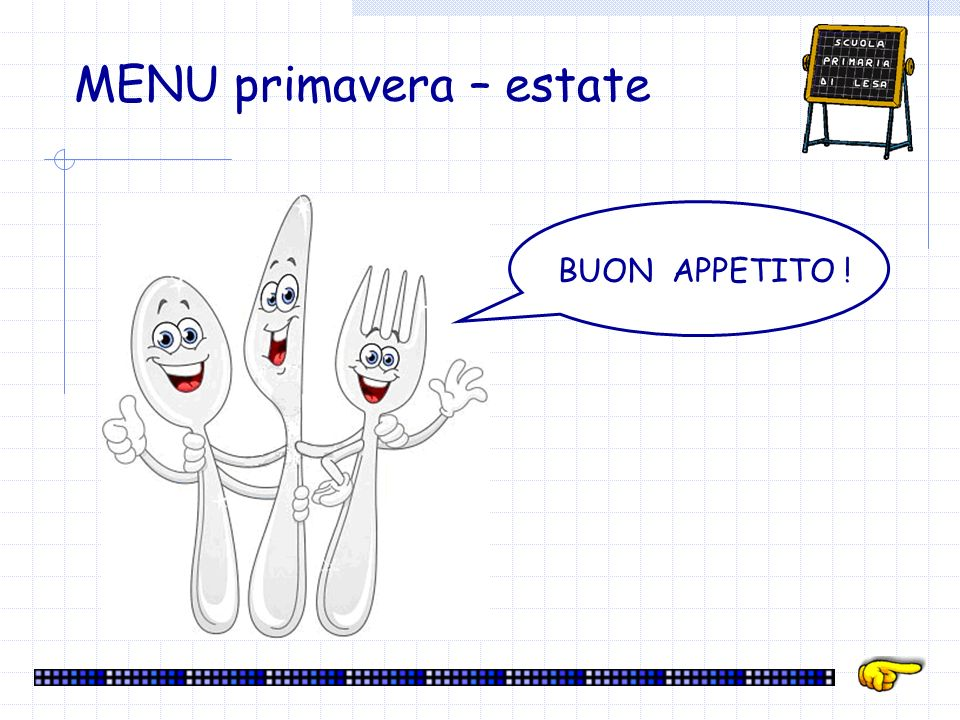 MENU primavera – estate