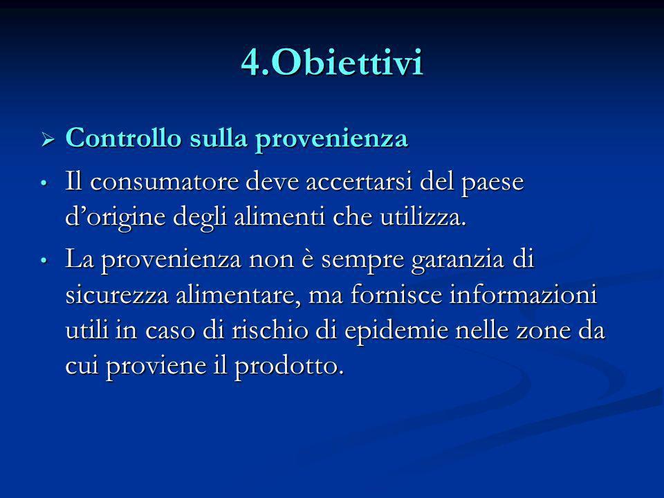 4.Obiettivi Controllo sulla provenienza