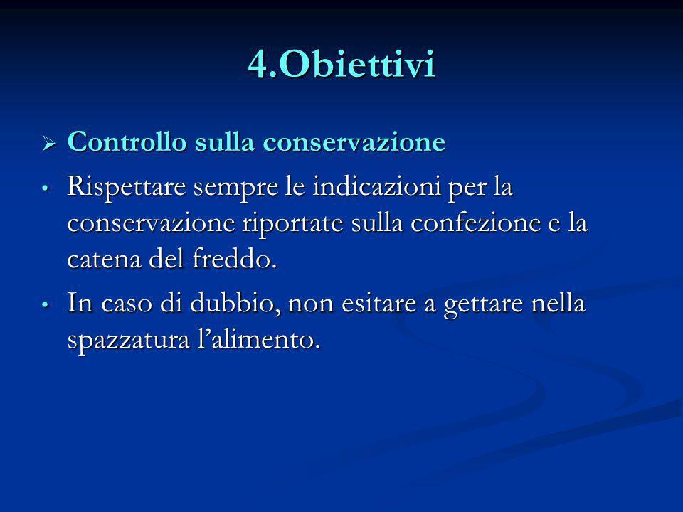 4.Obiettivi Controllo sulla conservazione