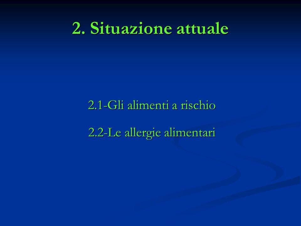 2. Situazione attuale 2.1-Gli alimenti a rischio