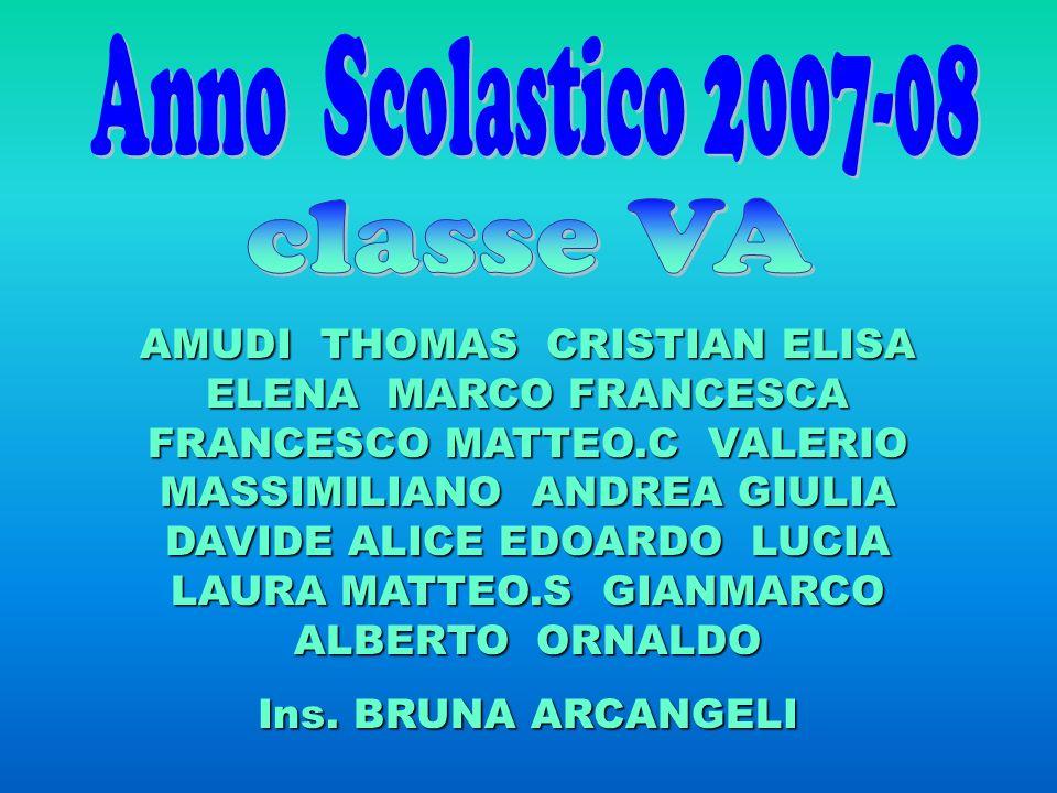 Anno Scolastico 2007-08 classe VA