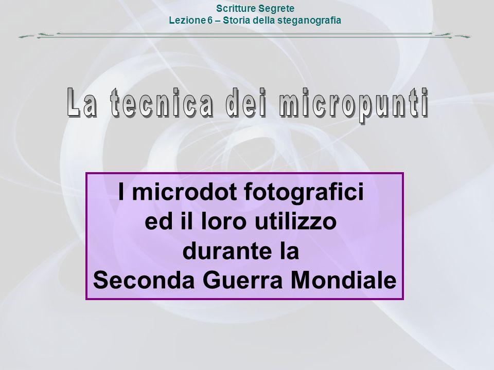 La tecnica dei micropunti