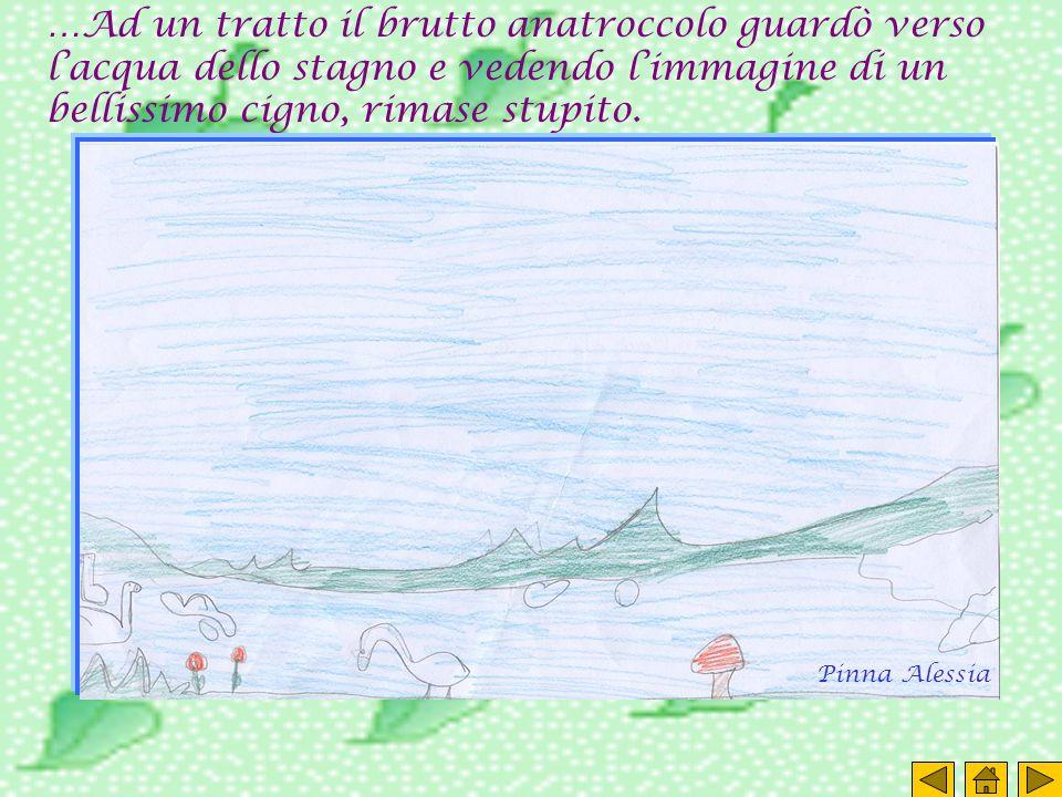 …Ad un tratto il brutto anatroccolo guardò verso l'acqua dello stagno e vedendo l'immagine di un bellissimo cigno, rimase stupito.
