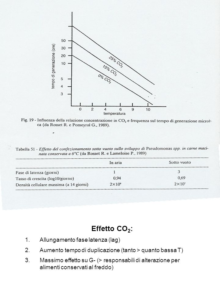 Effetto CO2: Allungamento fase latenza (lag)