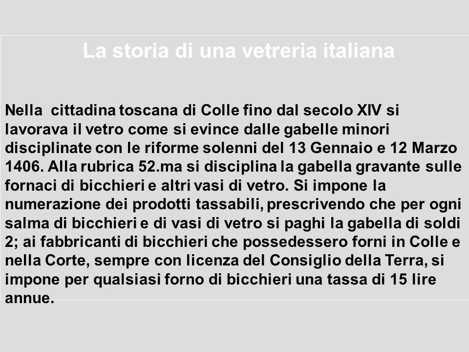La storia di una vetreria italiana