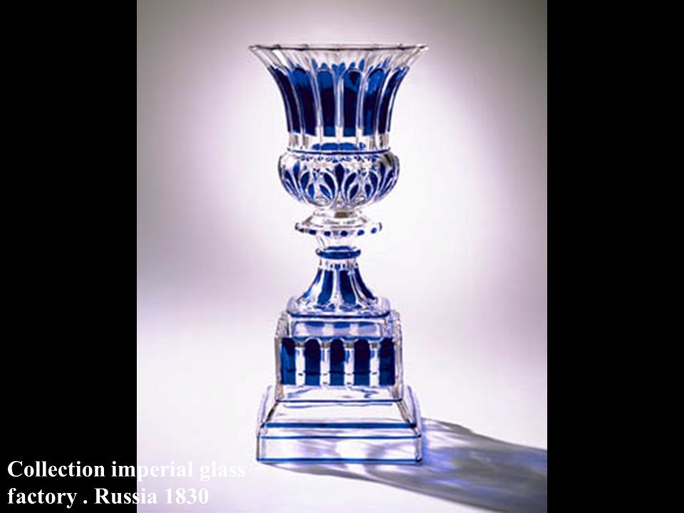 Collection imperial glass factory . Russia 1830