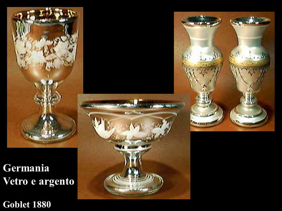 vasi Germania Vetro e argento Goblet 1880 compote1889