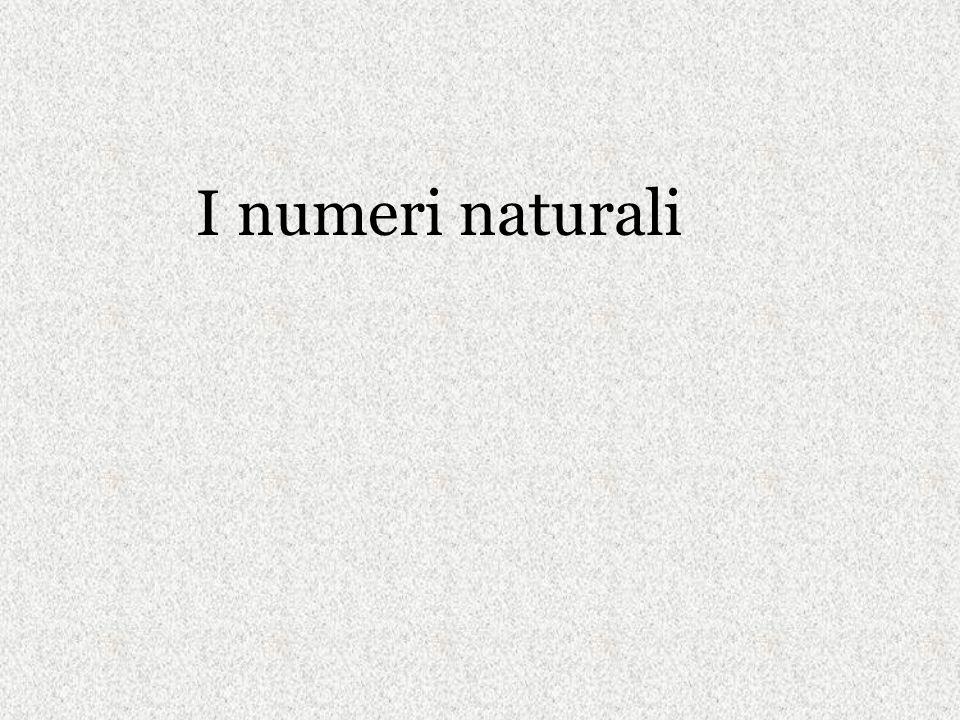 I numeri naturali
