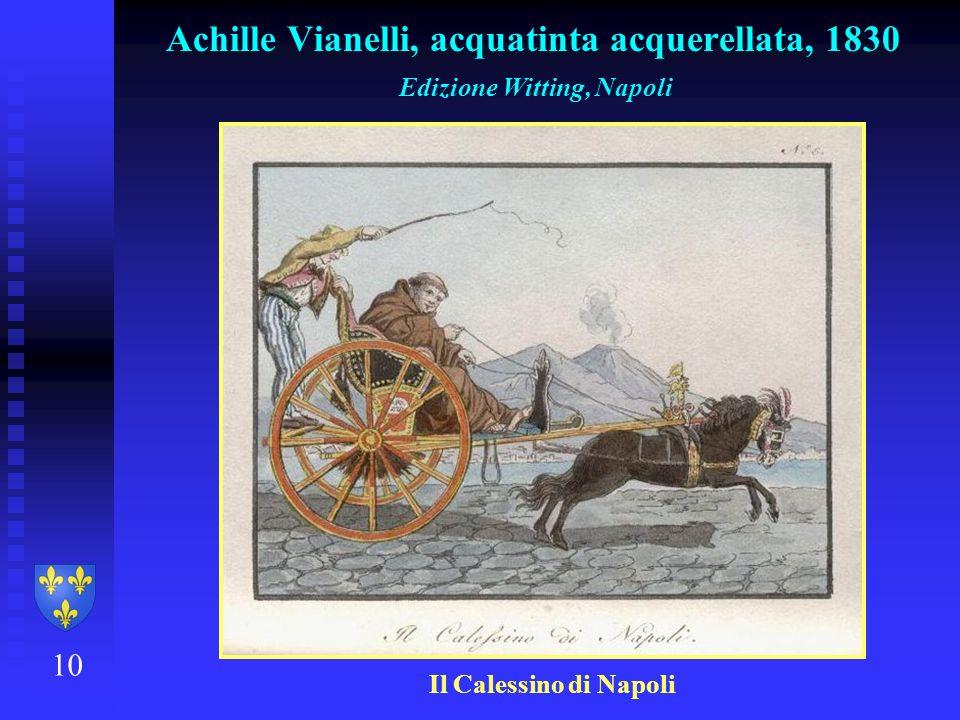 Achille Vianelli, acquatinta acquerellata, 1830
