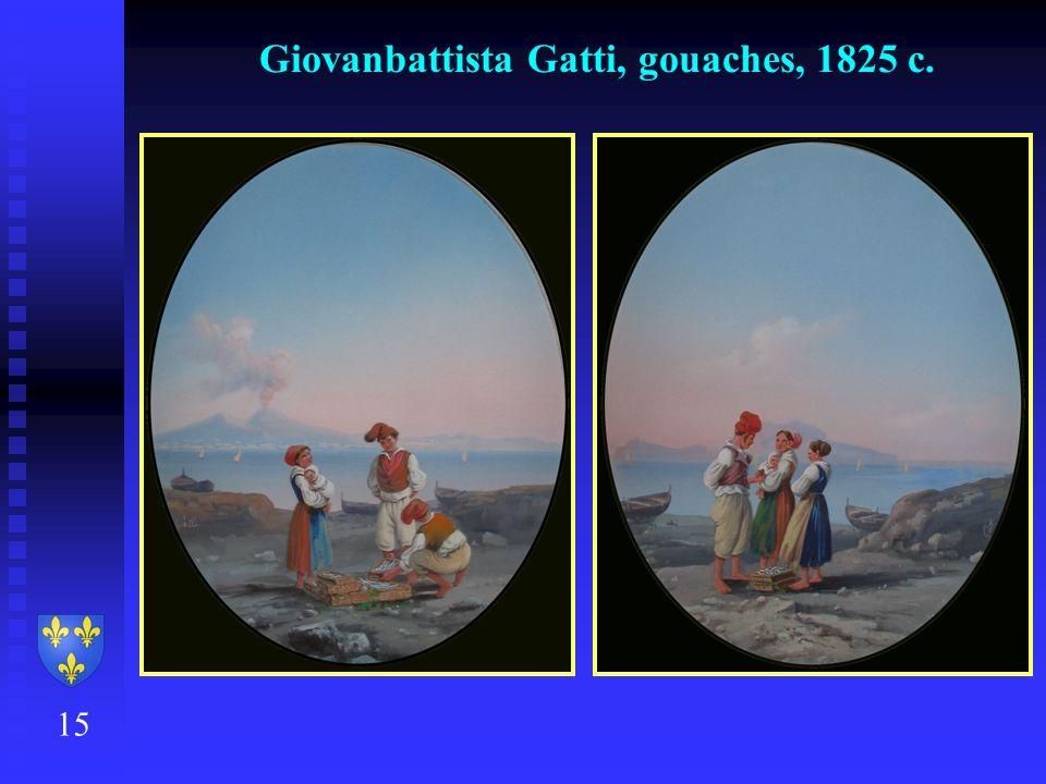 Giovanbattista Gatti, gouaches, 1825 c.