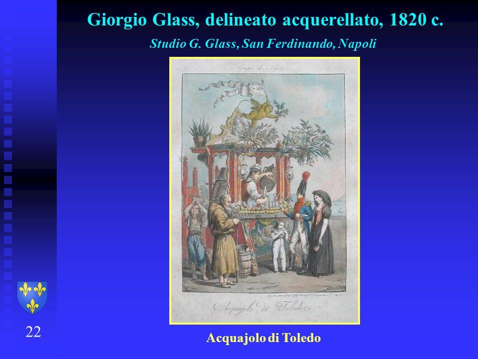 Giorgio Glass, delineato acquerellato, 1820 c.