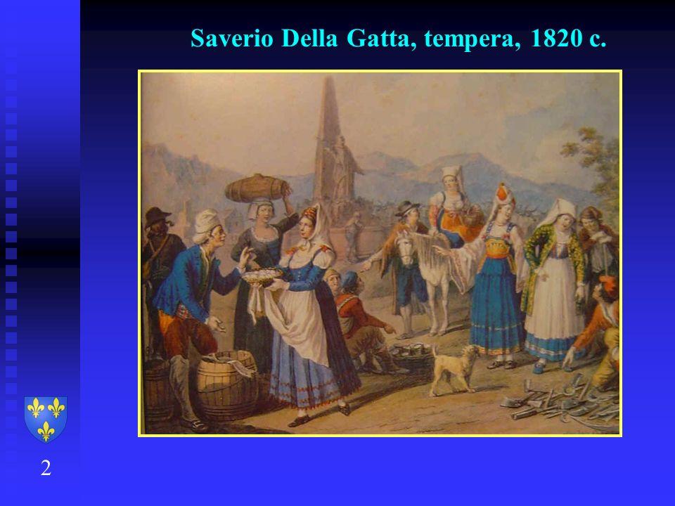 Saverio Della Gatta, tempera, 1820 c.