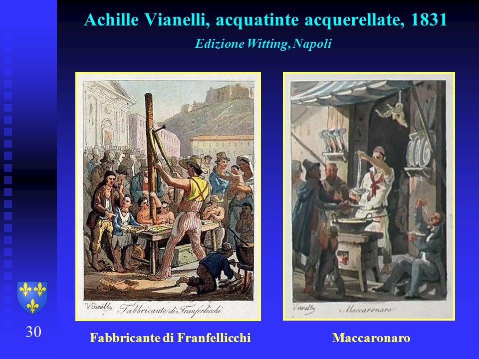 Achille Vianelli, acquatinte acquerellate, 1831