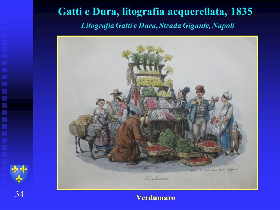 Gatti e Dura, litografia acquerellata, 1835