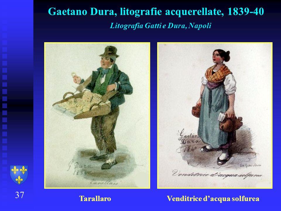 Gaetano Dura, litografie acquerellate, 1839-40