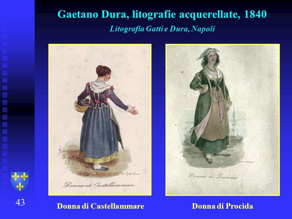 Gaetano Dura, litografie acquerellate, 1840