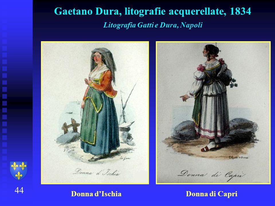 Gaetano Dura, litografie acquerellate, 1834