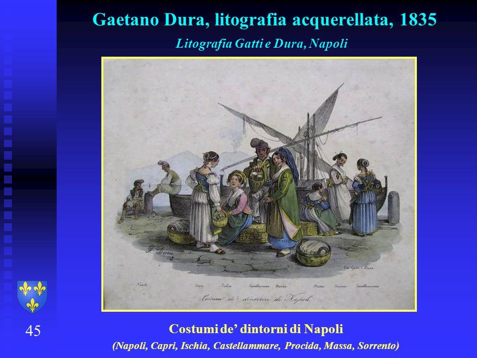 Gaetano Dura, litografia acquerellata, 1835