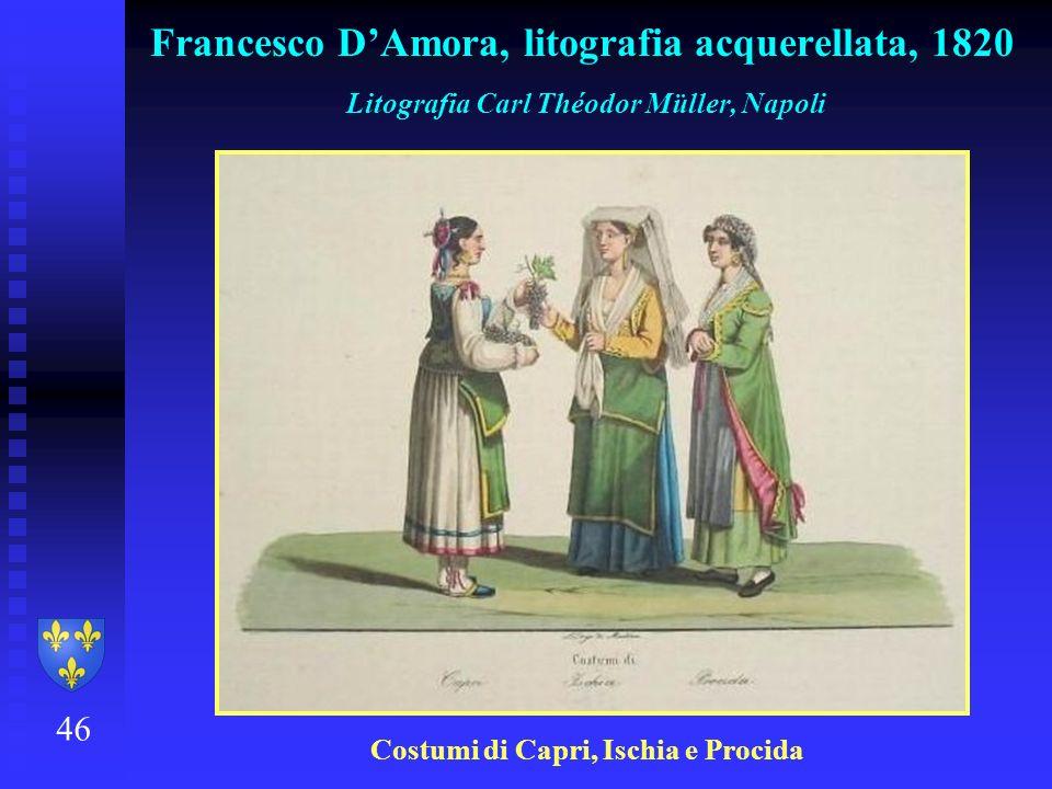 Francesco D'Amora, litografia acquerellata, 1820