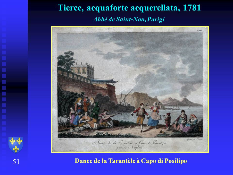 Tierce, acquaforte acquerellata, 1781