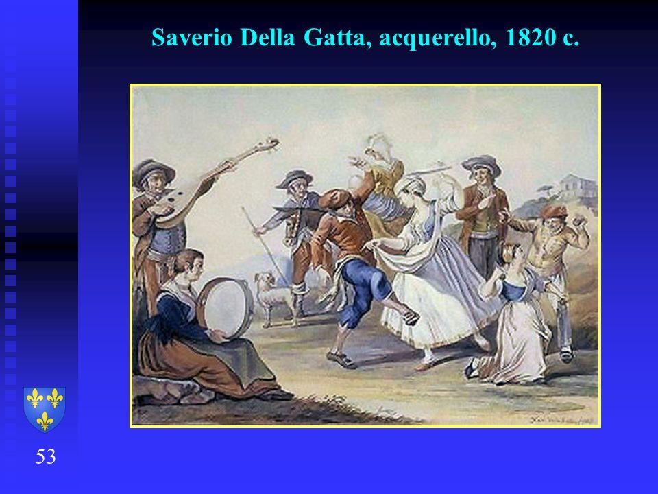 Saverio Della Gatta, acquerello, 1820 c.