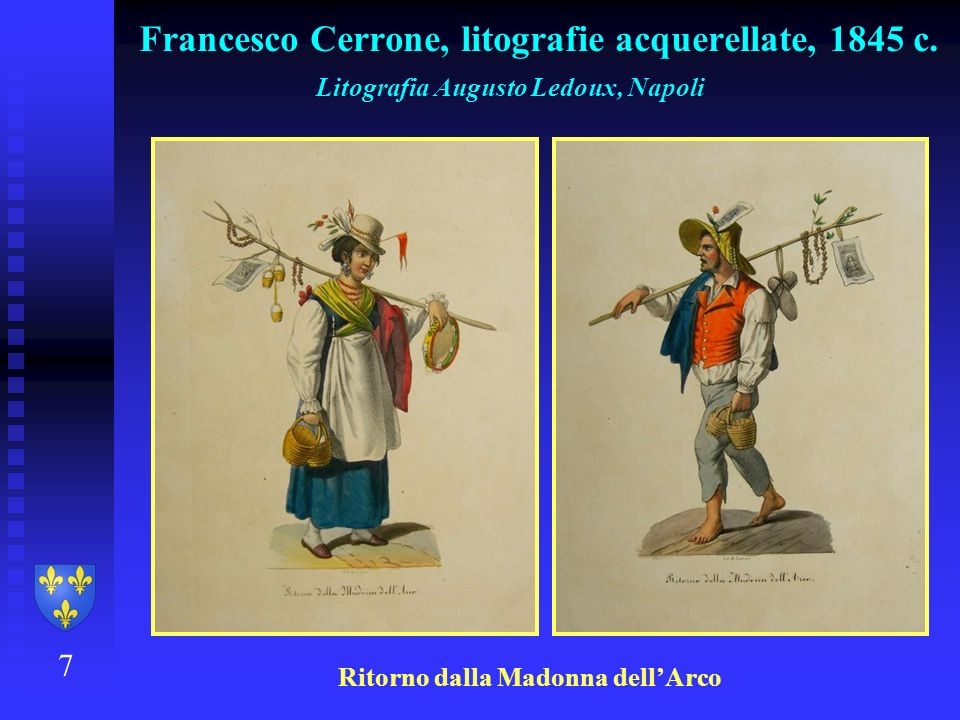 Francesco Cerrone, litografie acquerellate, 1845 c.