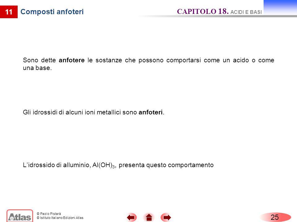 CAPITOLO 18. ACIDI E BASI 11 Composti anfoteri 25