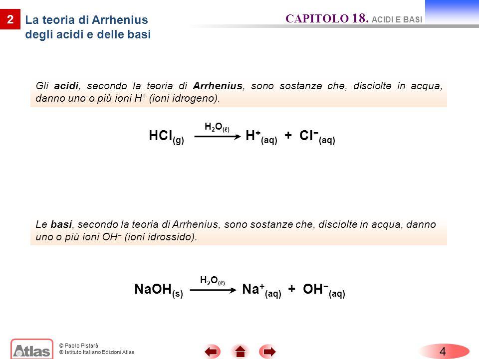 La teoria di Arrhenius degli acidi e delle basi