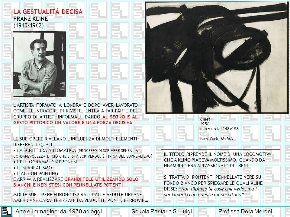 LA GESTUALITÁ DECISA FRANZ KLINE (1910-1962)