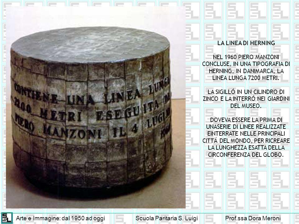 LA LINEA DI HERNING NEL 1960 PIERO MANZONI CONCLUSE, IN UNA TIPOGRAFIA DI HERNING, IN DANIMARCA, LA LINEA LUNGA 7200 METRI.