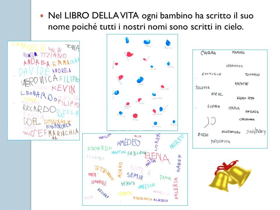 Nel LIBRO DELLA VITA ogni bambino ha scritto il suo nome poiché tutti i nostri nomi sono scritti in cielo.