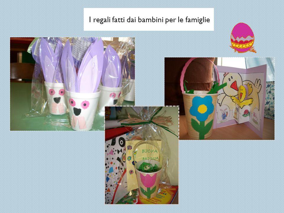 I regali fatti dai bambini per le famiglie