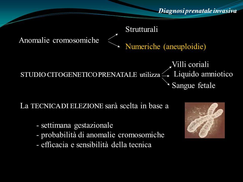 Anomalie cromosomiche Numeriche (aneuploidie)