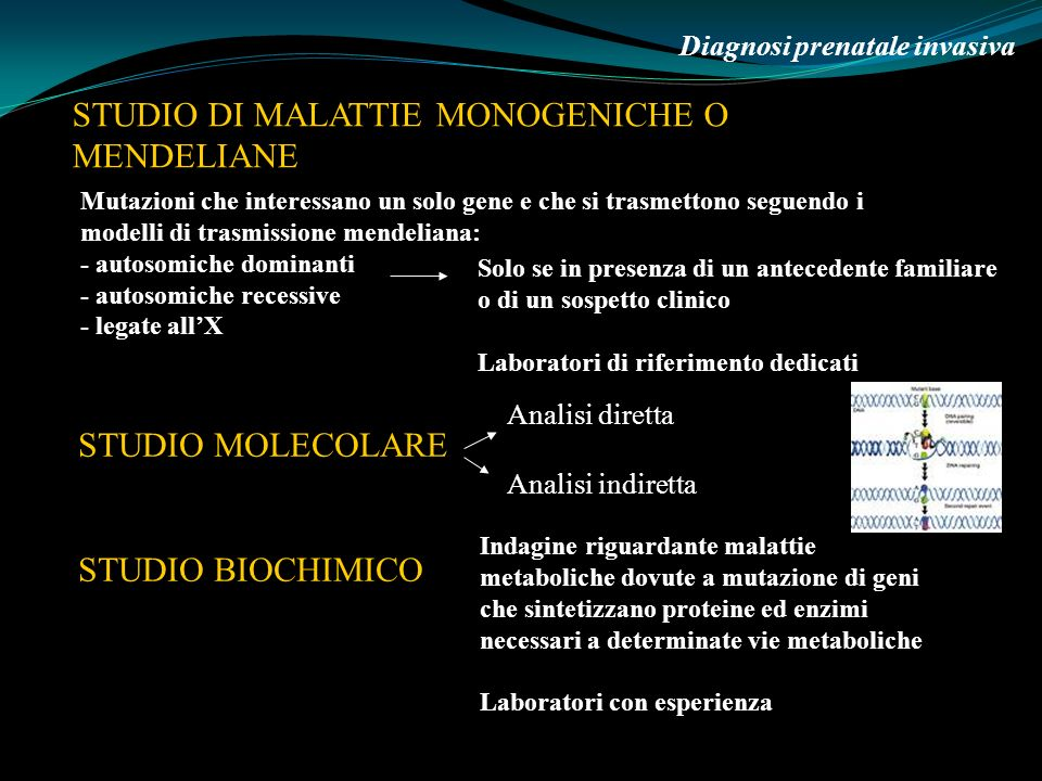 STUDIO DI MALATTIE MONOGENICHE O MENDELIANE