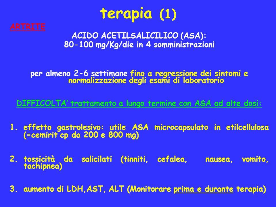 terapia (1) ARTRITE ACIDO ACETILSALICILICO (ASA):