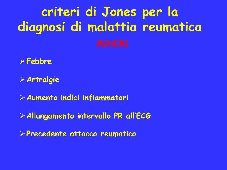 criteri di Jones per la diagnosi di malattia reumatica