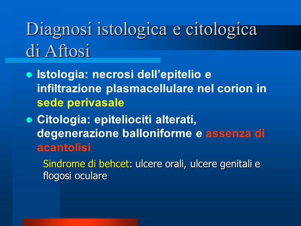 Diagnosi istologica e citologica di Aftosi