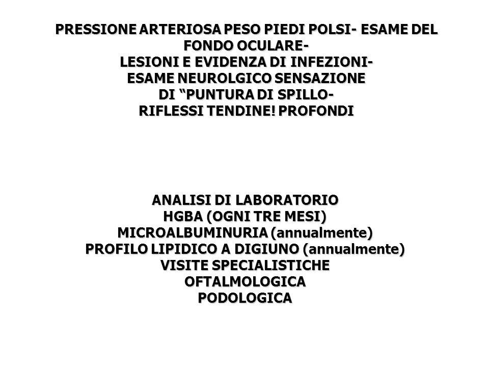 ANALISI DI LABORATORIO OFTALMOLOGICA PODOLOGICA