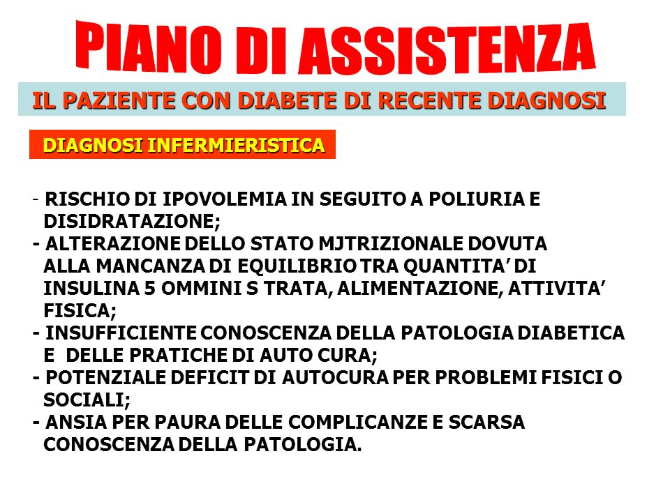 Diagnosi infermieristiche diabete