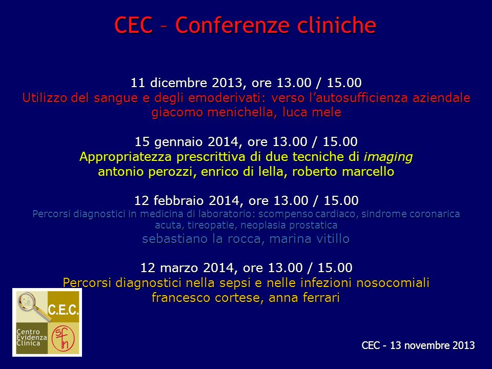 CEC – Conferenze cliniche