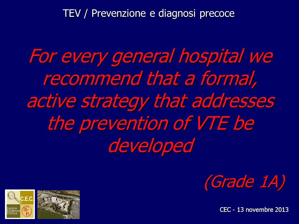 TEV / Prevenzione e diagnosi precoce