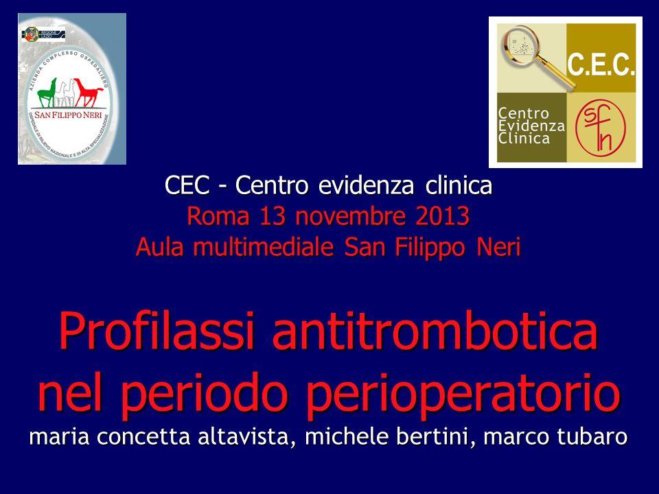 Profilassi antitrombotica nel periodo perioperatorio