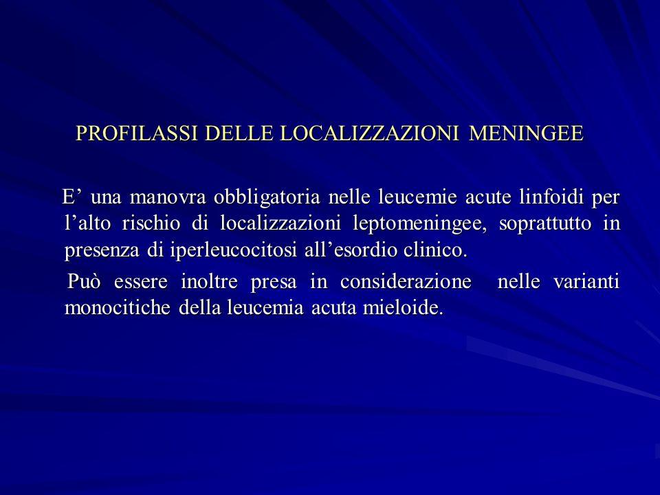 PROFILASSI DELLE LOCALIZZAZIONI MENINGEE