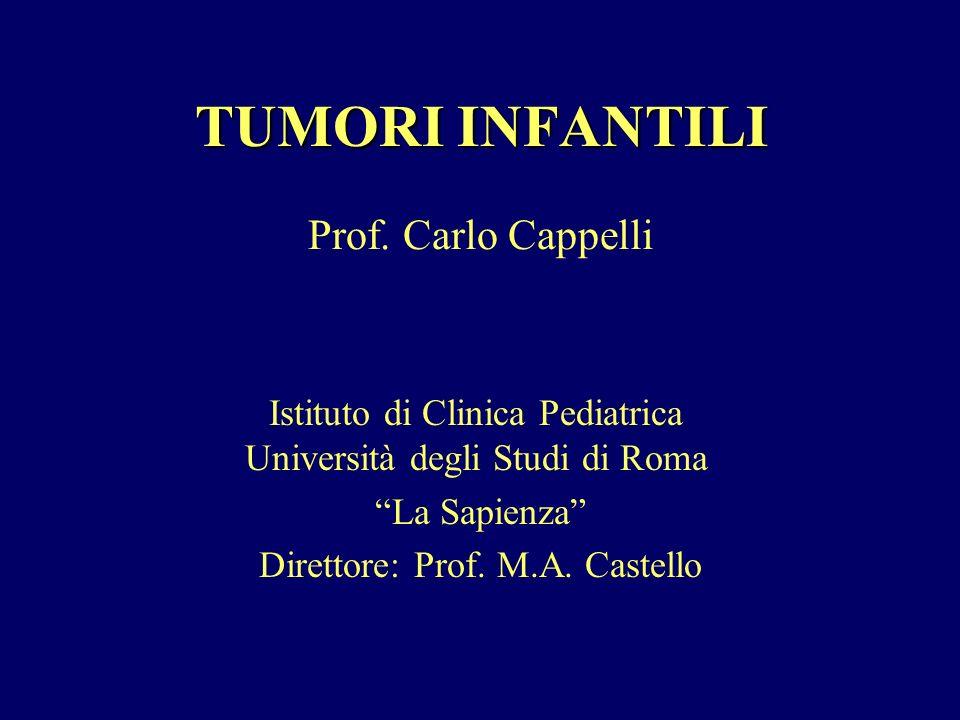 TUMORI INFANTILI Prof. Carlo Cappelli