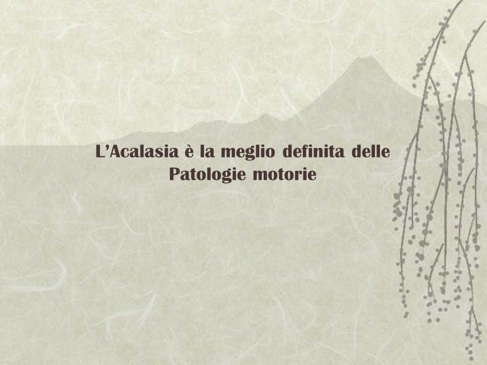 L'Acalasia è la meglio definita delle Patologie motorie