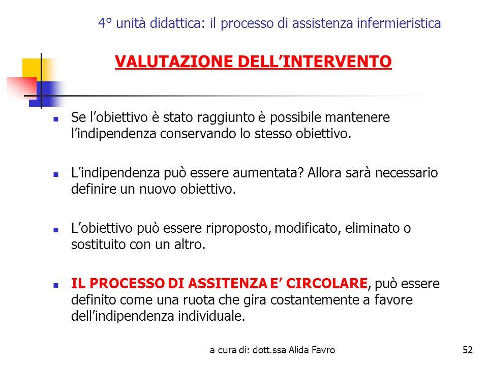 4° unità didattica: il processo di assistenza infermieristica